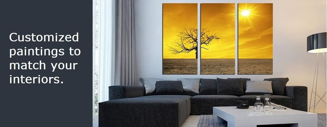 Customized Hand made Paintings for Home and Office.